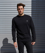 Classic Crew Neck  Black Sweater