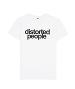 Distorted People Crew Neck White & Black T-Shirt