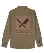 Blades Patch Utility Olive & Black Shirt Jacket