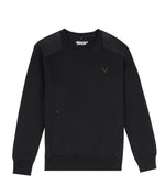 Utility Black & Black Crewneck Sweater