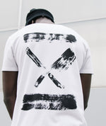 Grand Crew Neck Inked Blades long t-shirt by Distorted People