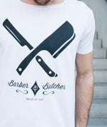 Barber & Butcher Cutted Neck t-shirt by Distorted People