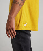 Classic Grand Crew Neck Saffron & White T-shirt