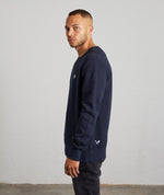 Classic Crew Neck Navy & White Sweater