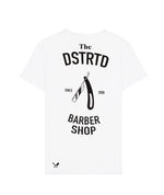 The Dstrd Barber Shop Grand Crew Neck White & Black T-Shirt