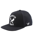 Team Black/White Snapback Cap