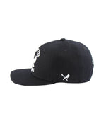 Team Black & White Snapback Cap
