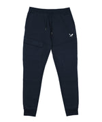 Classic Cargo Navy & White Sweatpants