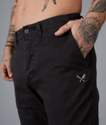 Classic washed black Chino Pants