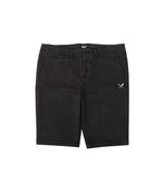 Classic Washed Black & White Chino Shorts