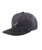 Blades Plate Tiger Allover Black & Gold Snapback Cap