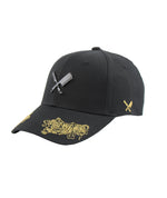 Two Tigers Blades Plate Black/Gold Dad Cap