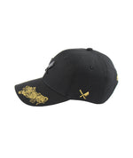 Two Tigers Blades Plate Black & Gold Dad Cap