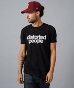 Distorted People Crew Neck Black & White T-Shirt