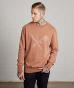 Dragon Blades Washed Terracotta Crew Neck Sweater