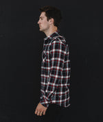 Classic Navy, Sand & Red Flannel Shirt