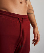 Classic Burgundy & White Sweatpants