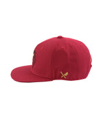 KOI Ornament Dark Red & Black Snapback Cap
