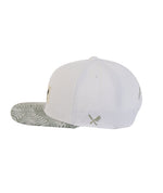 Patched Blades Leaves Allover Snapback Cap
