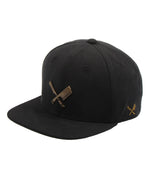Blades Plate Washed Black/Brass Snapback Cap