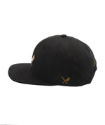 Blades Plate Washed Black & Brass Snapback Cap