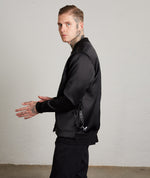 Classic Strapped Premium Black Bomber Jacket