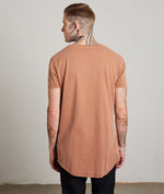 Washed Terracotta Crew Neck T-Shirt