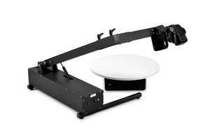 Photomechanics K-100 robot arm with rotating table to make 3D photos