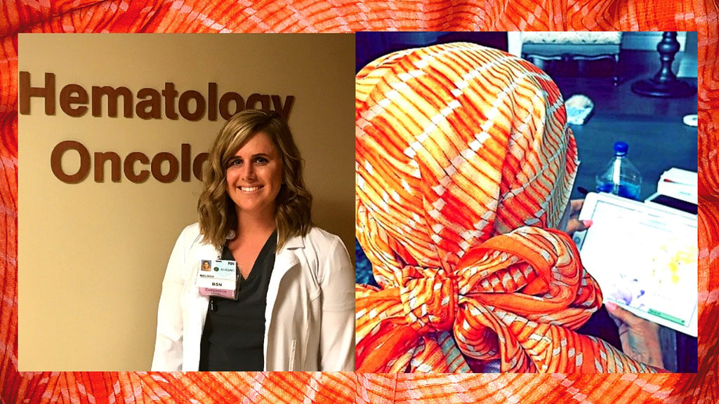 Eden Shell will donate this tangerine scarf in honor of Blood Cancer Awareness Month.