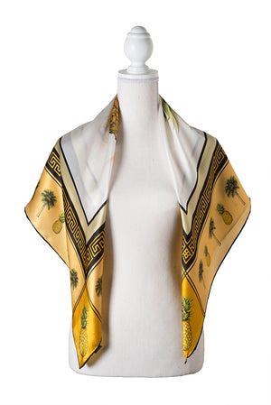 Pineapple Scarf by Eden Shell on Bust Form