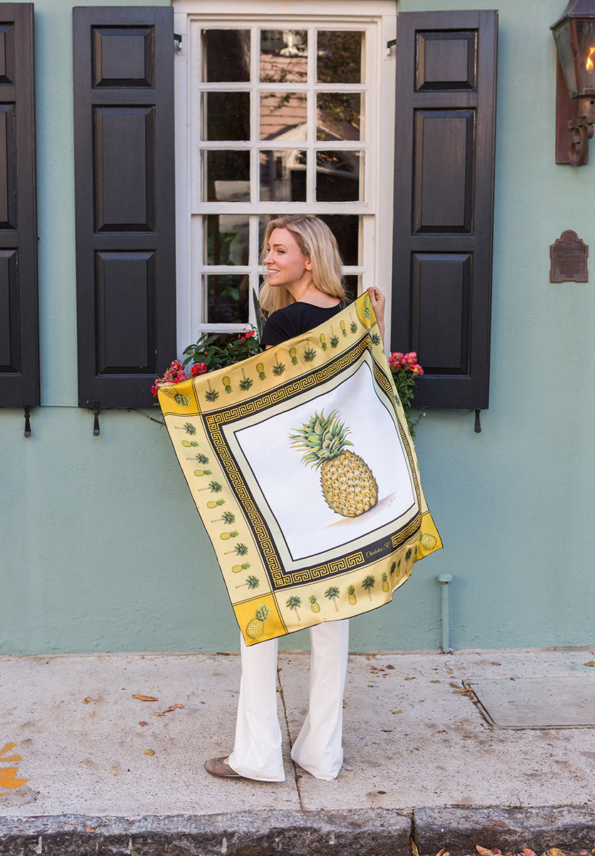Pineapple Scarf by Eden Shell on Model