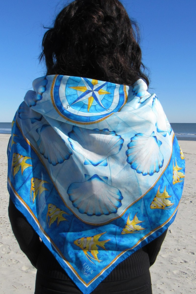 Angelfish and Shell Scarf