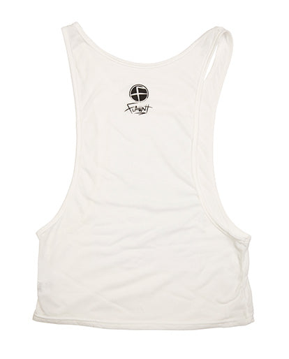 White Flawnt Clothing Deep Cut Singlet
