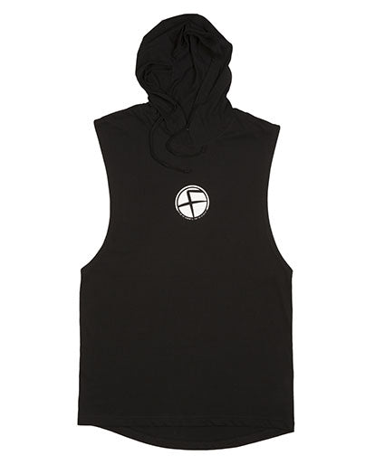 Black Flawnt Clothing Sleeveless Hoodie