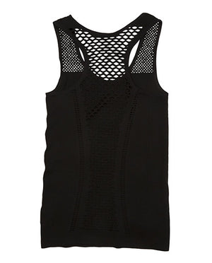 Black Flawnt Clothing Mesh Singlet