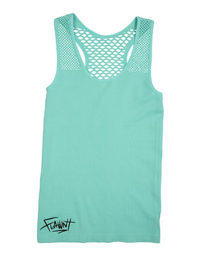 Mint Flawnt Clothing Mesh Singlet