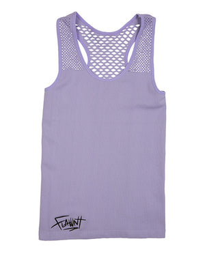 Purple Flawnt Clothing Mesh Singlet