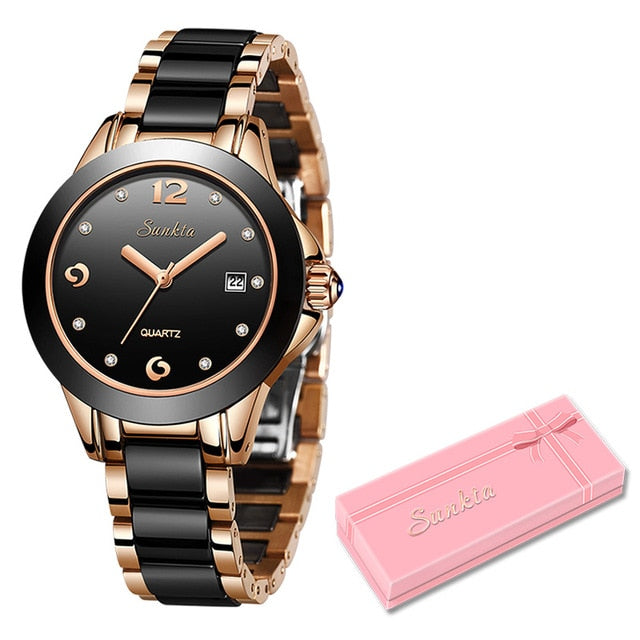 Rose Gold Women Quartz Watch