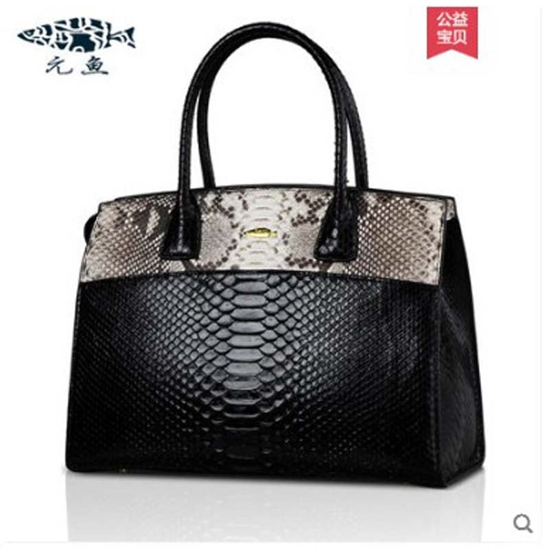 New python skin large capacity bag