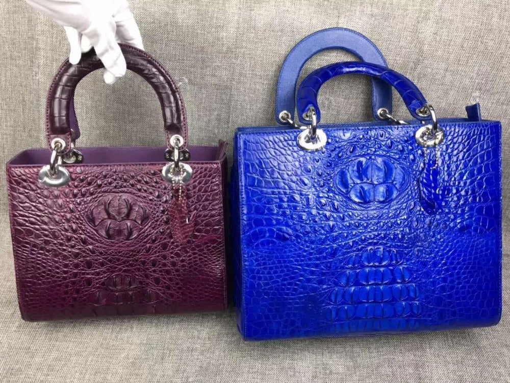 100% real genuine crocodile skin Tote handbag