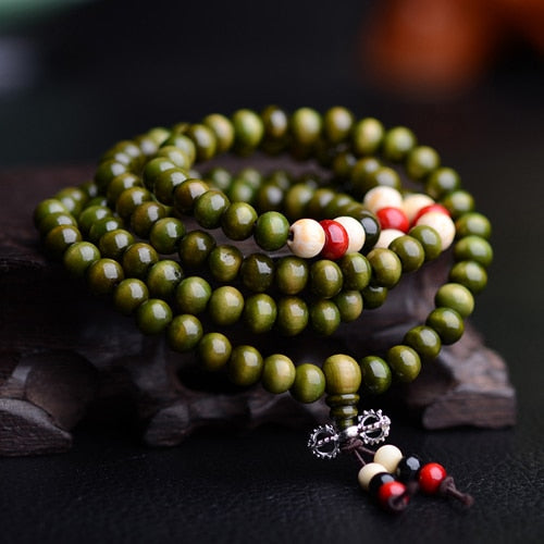 Colorful Wood Beads Bracelet