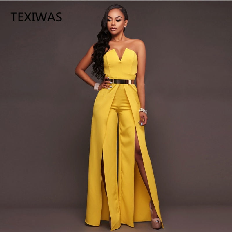 Chest Wrap Wide leg Jumpsuit