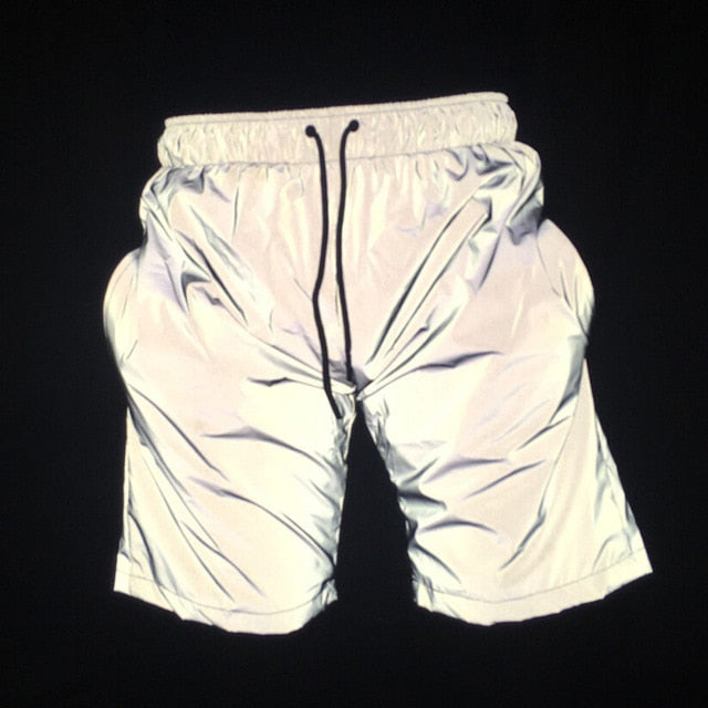 Reflective shorts night joggers