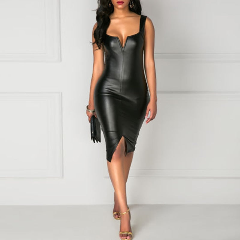 Sexy PU Leather Dresses