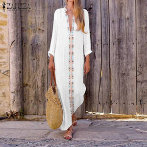 Bohemian Long Sleeve Casual Summer Dress