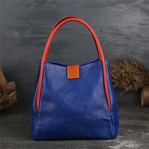Luxury Genuine Leather Retro Handbag
