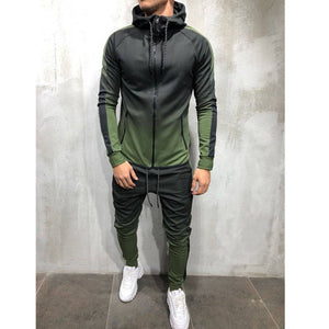 2pcs Men Athletic Tracksuit