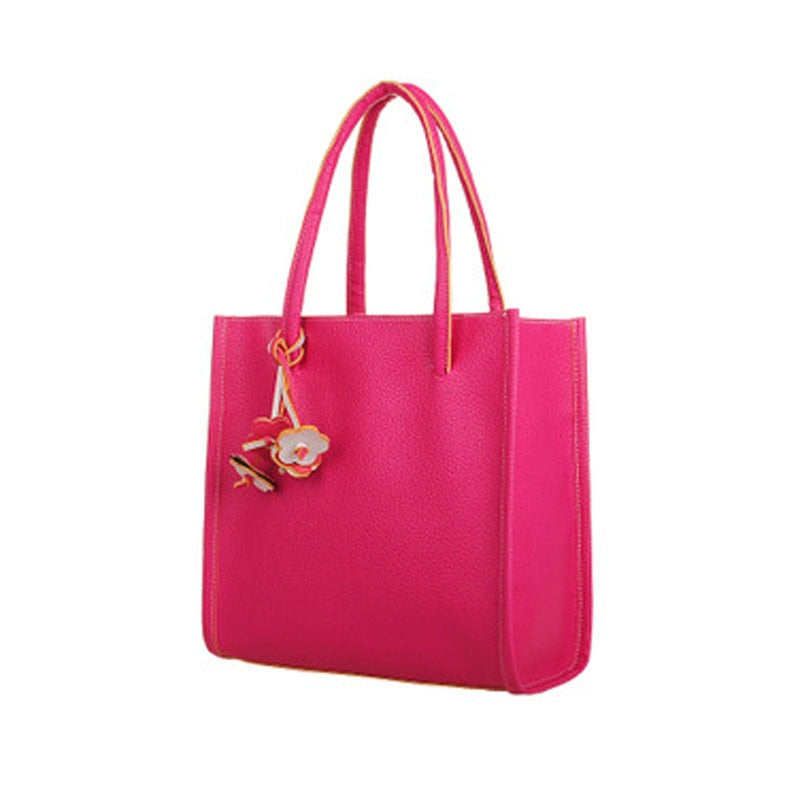 Designer shoulder bag candy color flowers