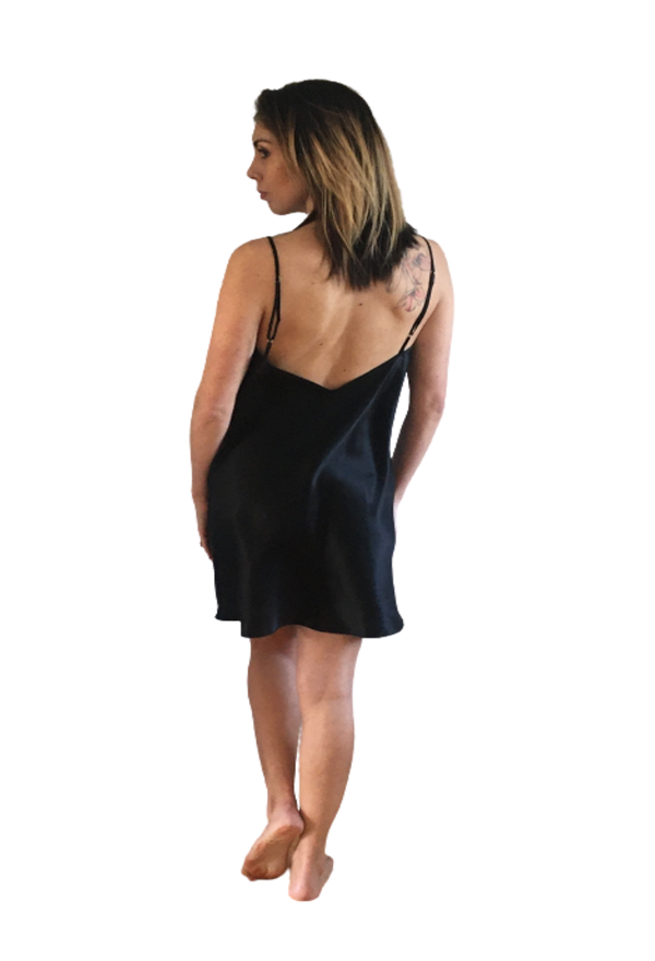 THE JAZZ CHEMISE -BLACK