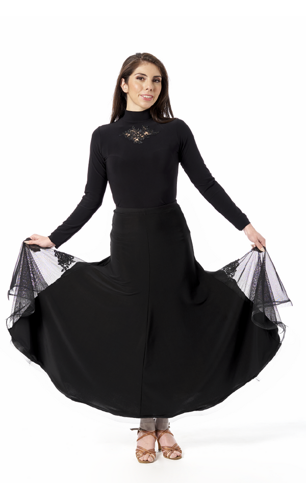 Women's Ballroom Skirt. See our great selection of dance skirts in black, red and blush